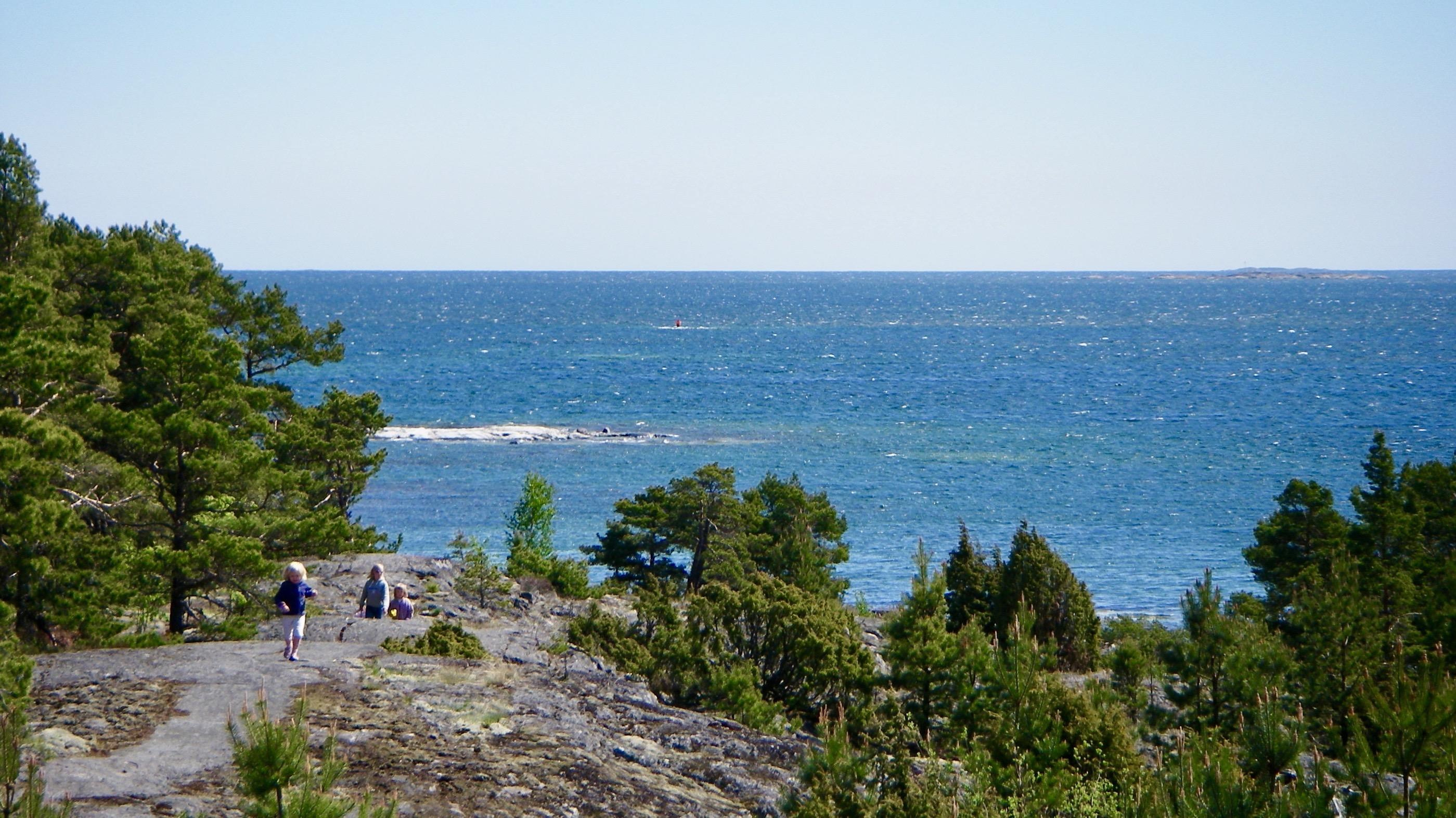 bild över havet vid Stockholms skärgård