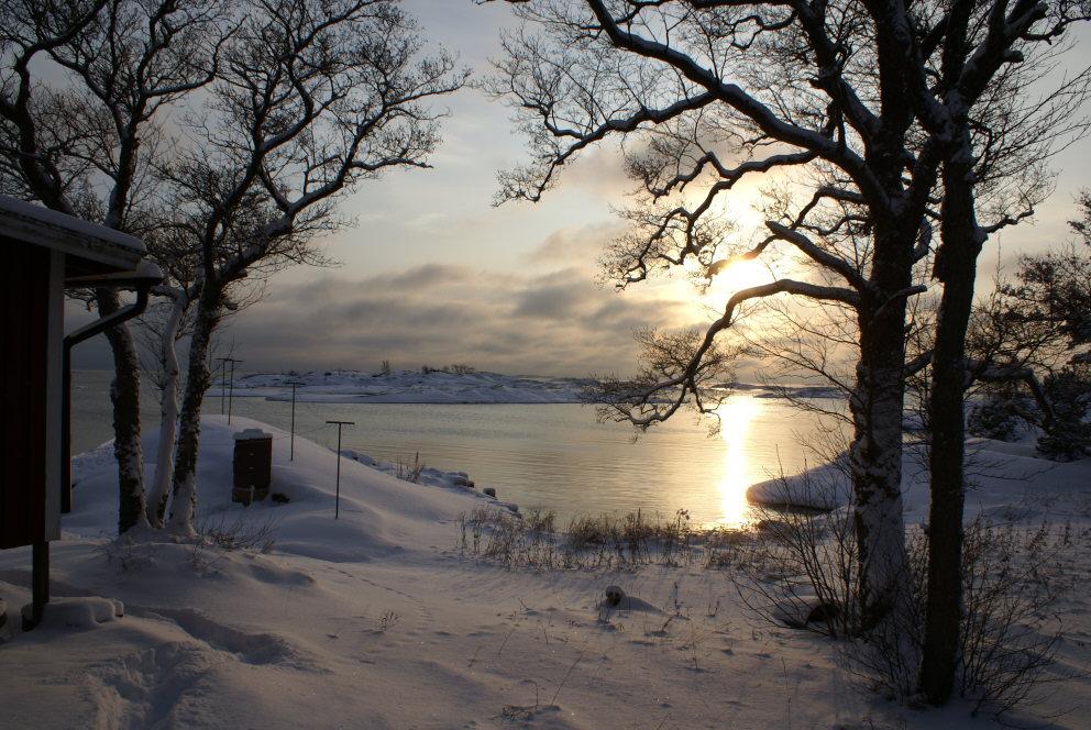 vinterbild från Stockholms skärgård
